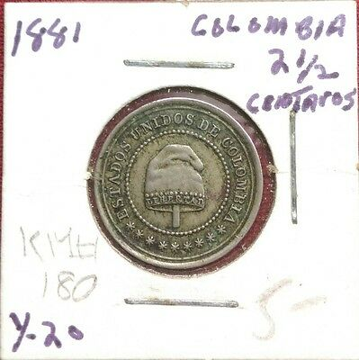 Colombia 2-1/2 Centavos, 1881, World Coin