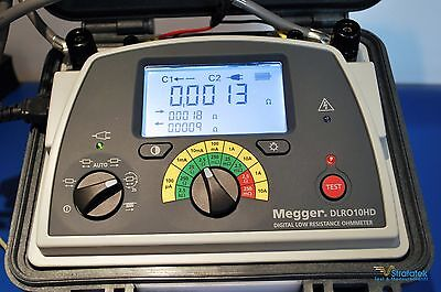Megger DLRO10HD Digital Low Resistance Ohmmeter NIST Calibrated + Extras.