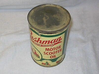 Vintage Original 1955 Cushman Motor Scooter Oil Can Full and Good Condition