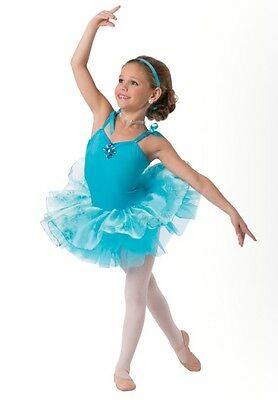 New Costume Gallery dance tap ballet tutu dress up turquoise large child 10-12