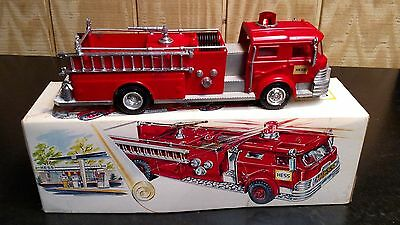 1970 Hess Fire Truck - With Box - Nice Condition - Works Perfect!!
