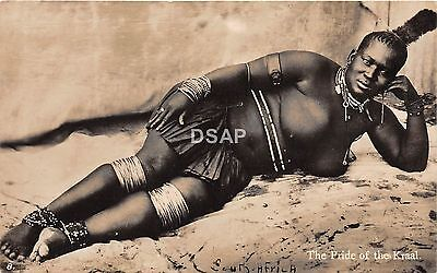C53/ South Africa Foreign RPPC Postcard c1920 Native Pride of the Kraal Tribe