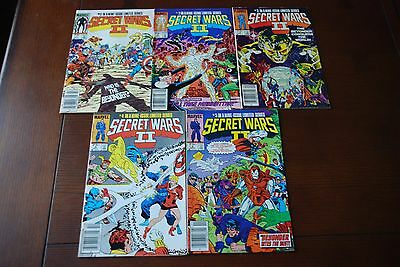 Secret Wars II 1, 2, 3, 4, 5 lot of 5 Copper Age comics featuring the Beyonder!