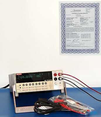 Keithley 2001 Series: 7½-Digit Multimeter + Scanning + New Leads, NIST Calibrate