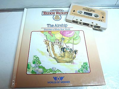 World of Teddy Ruxpin Storybook and Cassette Tape THE AIRSHIP