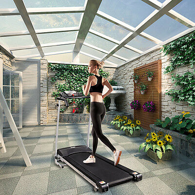 Home Gym Fitness Motorised Electric Treadmill Folding Machine Wide 360MM Belt