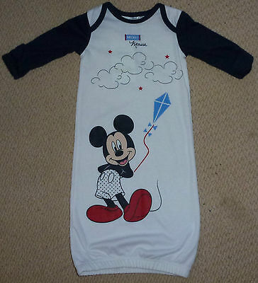 NWT Disney Mickey Mouse Licensed Baby Boys Summer Sleeping Gown Bag Size 00