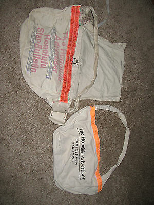 "Vintage collectible ""The Honolulu Advertiser "" newspaper bag carrier"