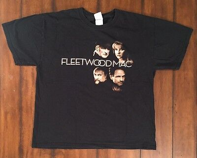 Fleetwood Mac Unleashed 2009 Classic Rock Tour Black T Shirt Stevie Nicks Large