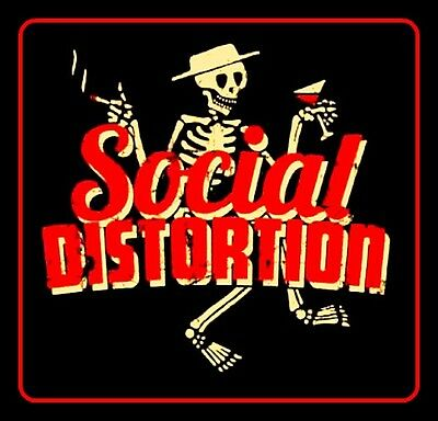 """2.5"""" Vintage style SOCIAL DISTORTION Sticker. Mike Ness, Punk, Anarchy for bong1"""
