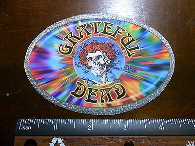 "4.5"" Grateful Dead LSD, Vintage style oval Vinyl bumper STICKER. For car or bong"