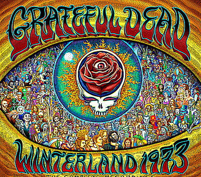 "3"" Grateful Dead LSD WINTERLAND 1973 Vintage style STICKER. For your bong, pipe"