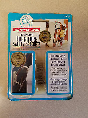 Mommy's Helper Tip-Resistant Furniture Safety Brackets No. 02263 (NEW)