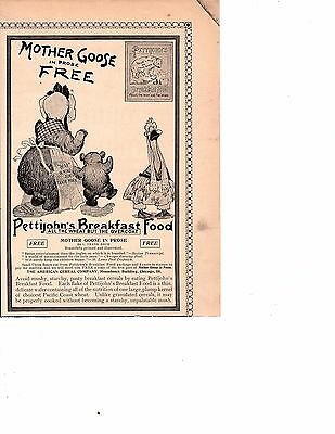 1895 Ad Pettijohns Bear American Cereal  mother goose