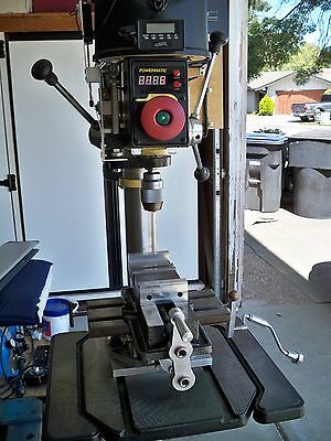 POWERMATIC 18in. VARIABLE SPEED DRILL PRESS WITH X Y TABLE 3 hp DC MOTOR