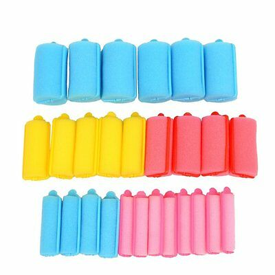 inkint 27 pcs 5 Sizes Colorful Soft Sponge Hair Roller Foam Hair Styling Curler