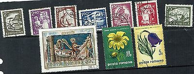 Romania  Stamps   small used collection including nice pictorials