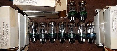 9 Pieces Nos Nib Vintage Tiny Black Round Plate Philips 6Sl7 / 5691  6Sl7W Tubes