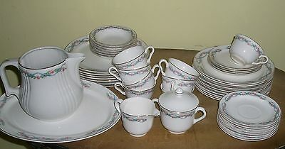 """44Pc-Hall Superior Dinnerware-Gold Rimmed-Series 85-""""wildfire"""""""