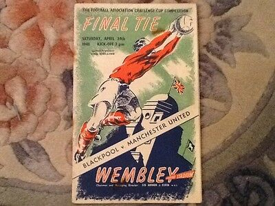 1948 FA Cup final Blackpool v Manchester United