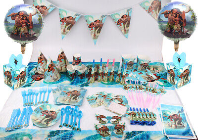 Moana Birthday Party Decoration Kids Girls Party Supplies Tableware Favor Gift