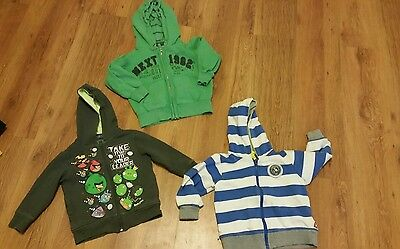3 x next boys hoody hoodies age 3 angry birds lego