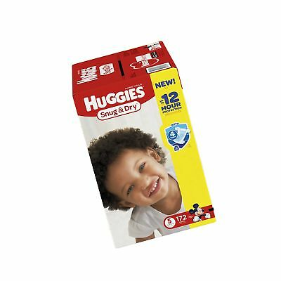 Huggies Snug & Dry Diapers Size 5 172 Count (One Month Supply)
