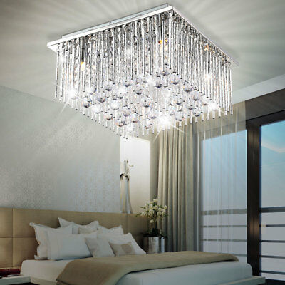 Chrome Crystal Acrylic Ceiling Light Chandelier Chandelier Living Room Lamp