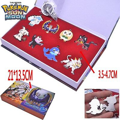Pokemon Sun Moon Stufful Mimikyu Solgaleo Litten Necklace Keychain 8style