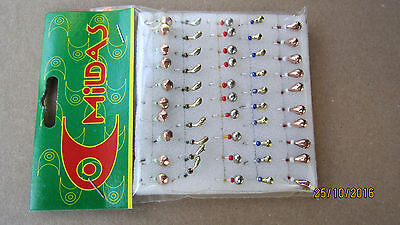 50 NEW Mormyshka Ice Fishing Lures Jigs  'mixed № 1'  from Ukraine