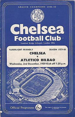CHELSEA v ATLETICO BILBAO 1959/60,FRIENDLY