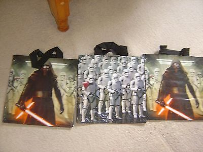 Set X 3 Tesco Star Wars Film Shopping Bags - Storm Troopers