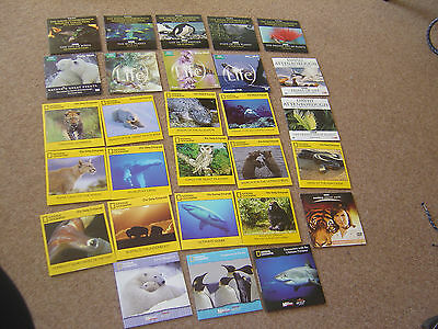 28 wildlife newspaper Promo DVDs - david attenborough - national geographic