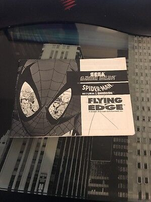 Spider Man Return Of The Sinister Six GAME GEAR Notice