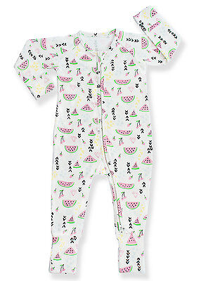 NWT Baby Boy Organic Cotton Bamboo Footie Footed Pajamas Onesi Zip Months