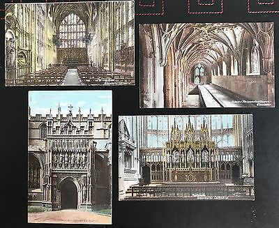 4 x Gloucester Cathedral Postcards - Postally Un-Used