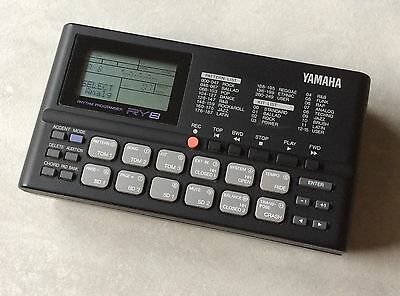 Yamaha RY8 vintage drum and bass machine boxed with manual guitar input tracking