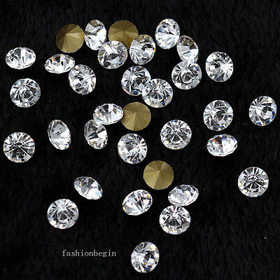 ss1-ss47 Clear Point Back crystal glass Diamante Rhinestone jewels Nail Art bead