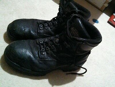Oliver Leather AT's All Terrains work boots size 7.5  US 8.5. Steel cap toe