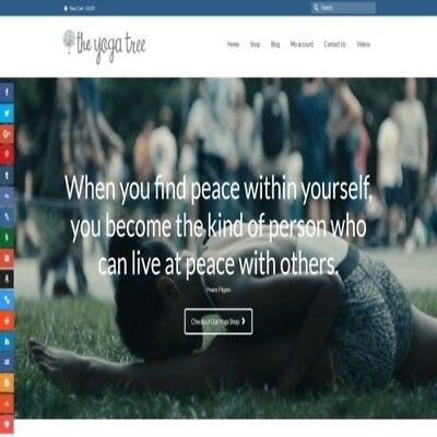 """Fully Stocked Dropshipping YOGA Website Store. """"300 Hits A Day"""""""