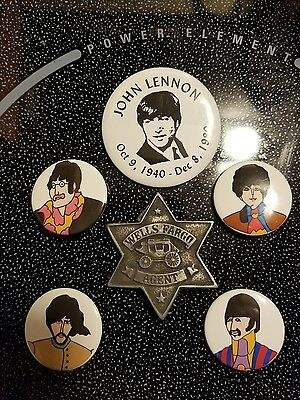 Beatles Yellow Submarine And John Lennon Pin Button Badges