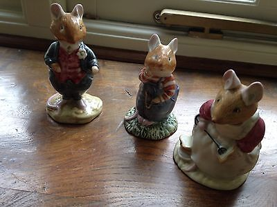 Royal Doulton Brambly Hedge Figurines x 3