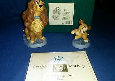 """Wdcc Lady And The Tramp, Lady & Puppy """"welcome Home"""" & """"precocious Pup"""" Nib"""