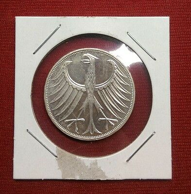 Germany - Federal Republic 5 Mark, 1974 J, Silver Coin, Great Detail