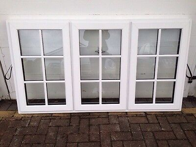 Everest double glazed white UPVC casement windows Georgian bars. NEW - OTHER