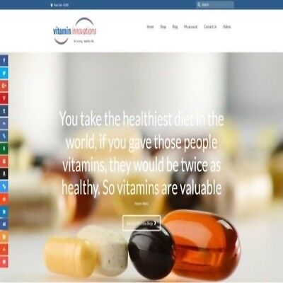 """Fully Stocked Dropshipping VITAMINS Website Store. """"300 Hits A Day"""""""
