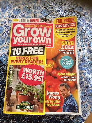 Grow Your Own Magazine June 2017 issue RRP £5.99 + 2 packets lucky dip seeds