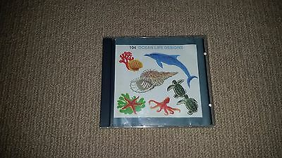 Janome Sewing Machine Embroidery Memory Card 104, Ocean Life Designs Japan 1997