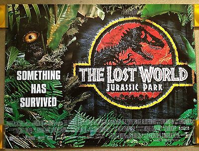 THE LOST WORLD: JURASSIC PARK (1997) Orig. UK Quad Movie Poster Spielberg ROLLED