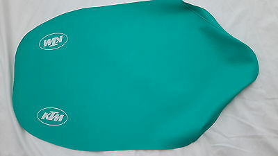 KTM EXC,MX 125,250 Seat Cover,Tailored.  1990  Green or Red with white log